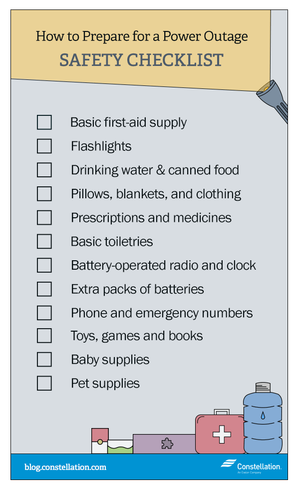 Power Outage Safety Checklist