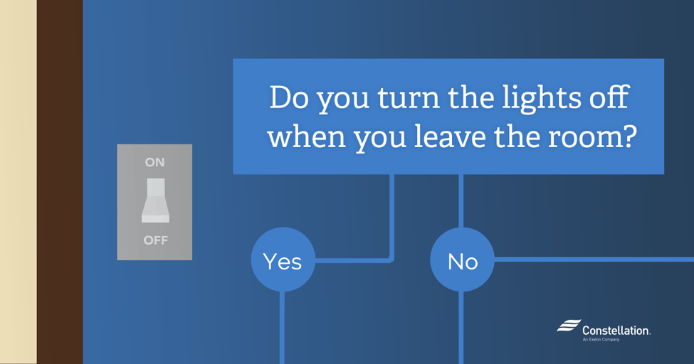 Do You Turn The Lights Off When You Leave The Room