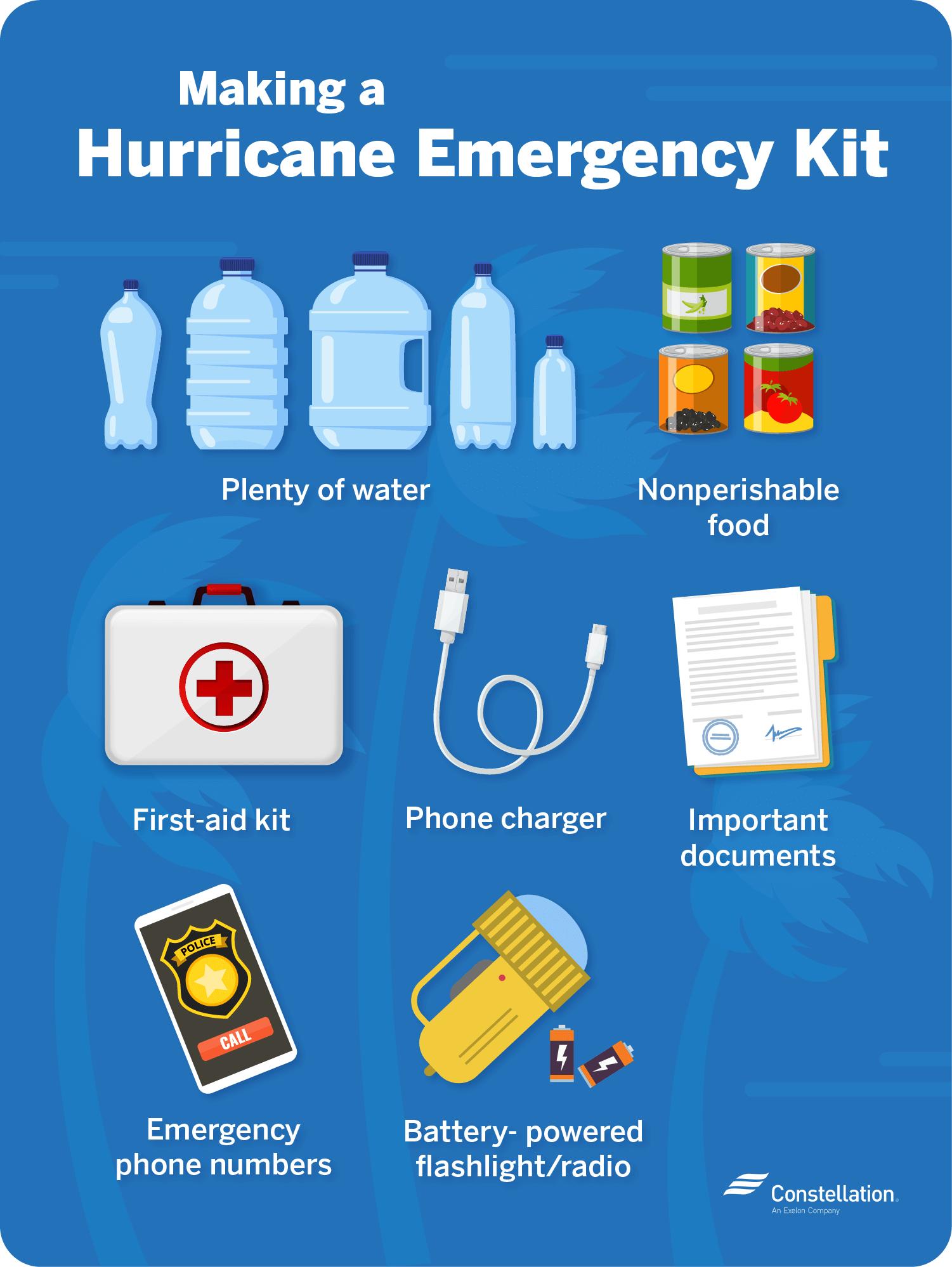 Making a hurricane emergency kit