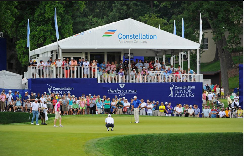 Visitors to the Constellation SENIOR PLAYERS Championship this week probably won't notice all the electricity it takes to run the event, but Constellation is committed to offsetting it through the purchase of Renewable Energy Certificates.