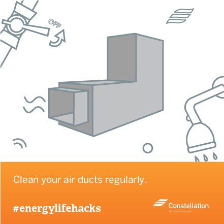 energy saving tip - clean your air ducts regularly