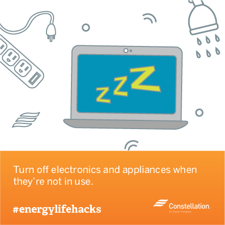 energy saving tip - turn off electronics when not in use