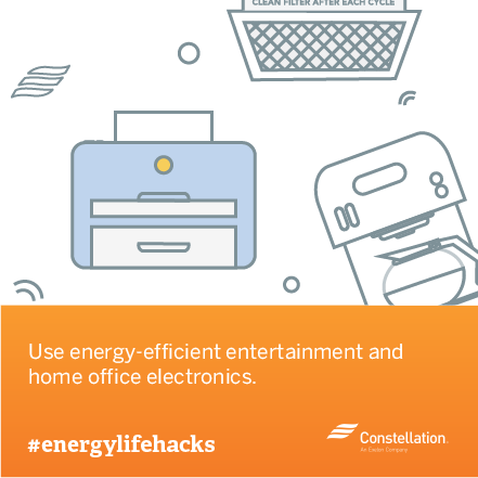 energy saving tip - use energy efficient electronics