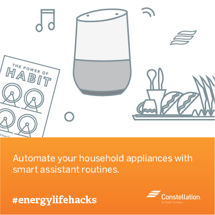 energy saving tip - use smart assistants