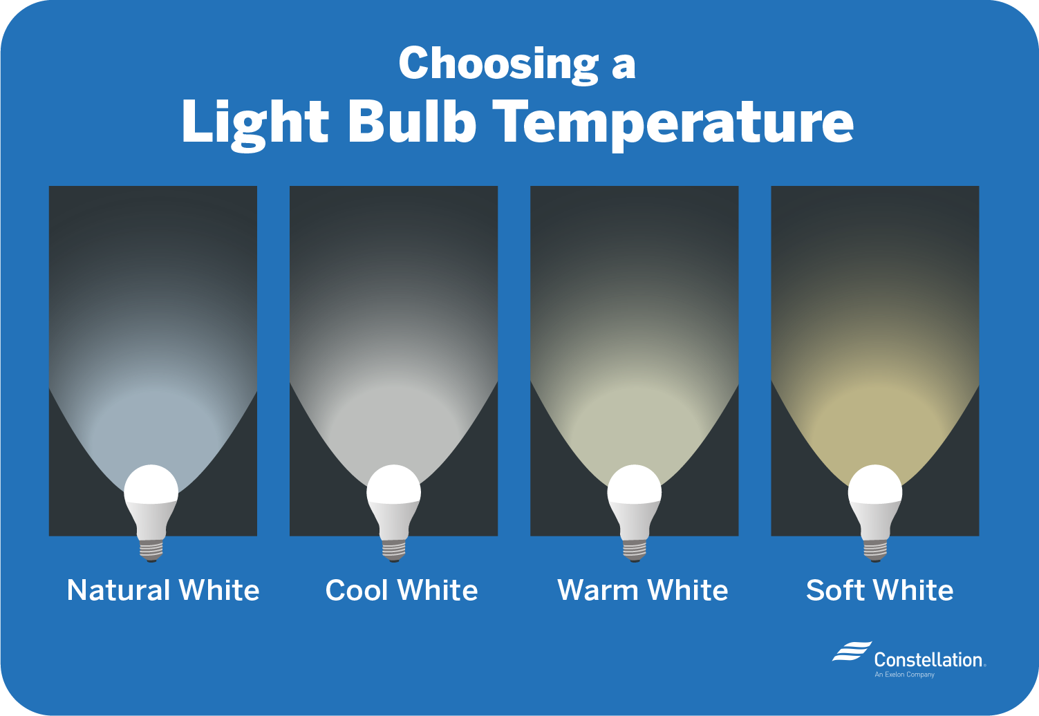 Choosing a light bulb temperature