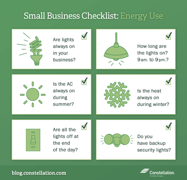Business Checklist: Energy Use