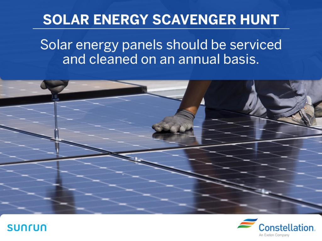Service and clean solar energy panels annually