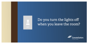 Do you turn off the lights off when you leave the room? (Social)