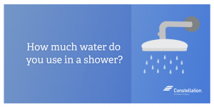 How much water do you use in a shower (Social)