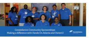 Constellation Community Partnerships: Making a difference with Hands On Atlanta and ParentU