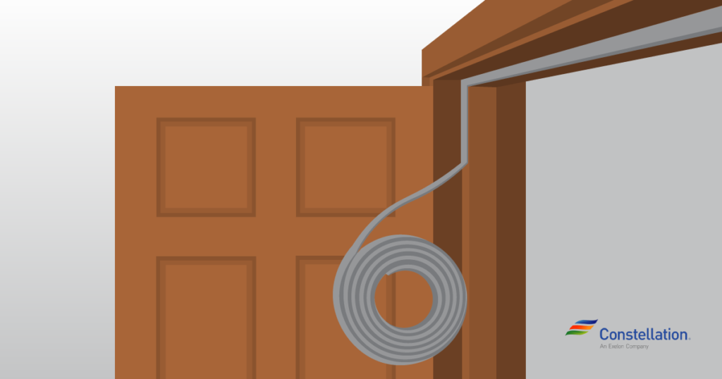 How to seal a door