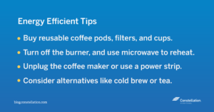 Energy efficiency tips for coffee makers