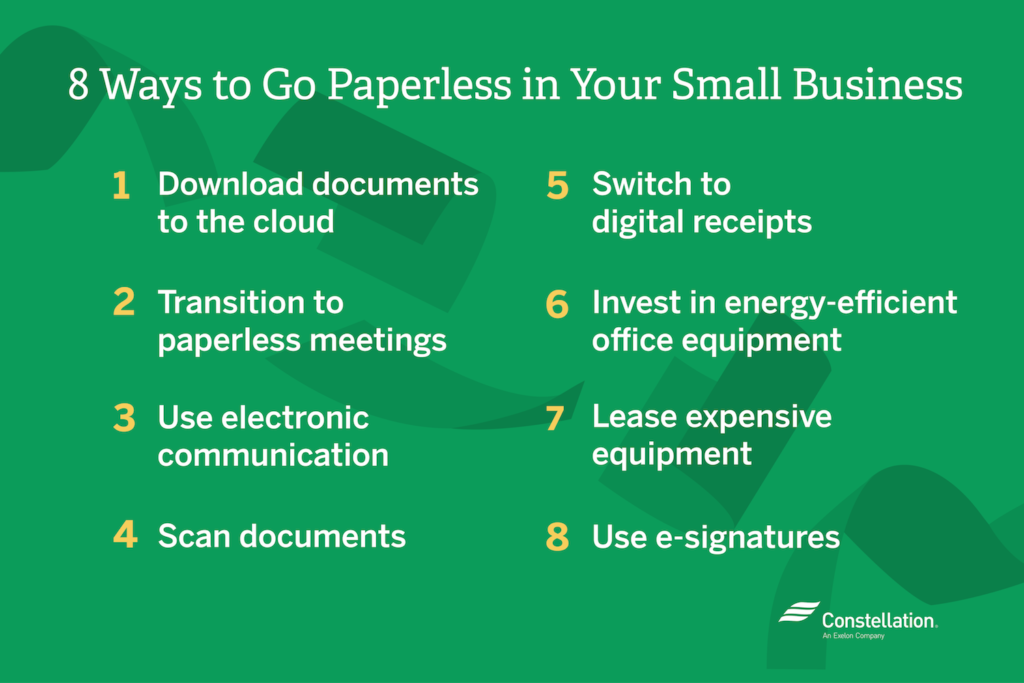 List of 8 Ways to Go Paperless in Your Small Business