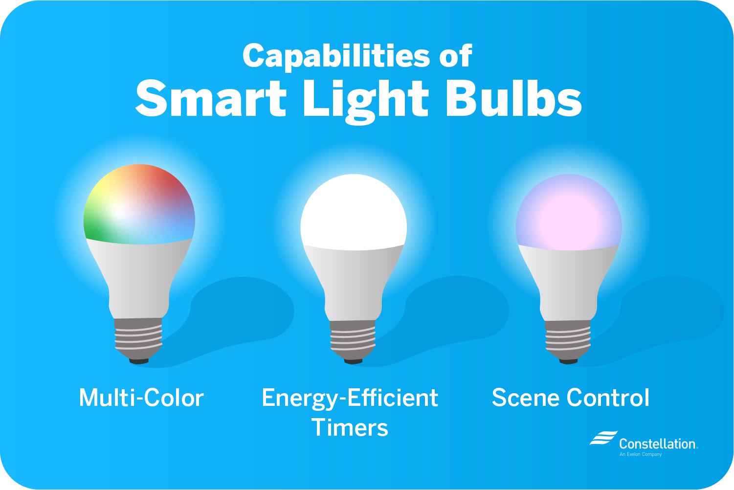 Smart light bulbs have scene control, multi-color, and timer capabilities