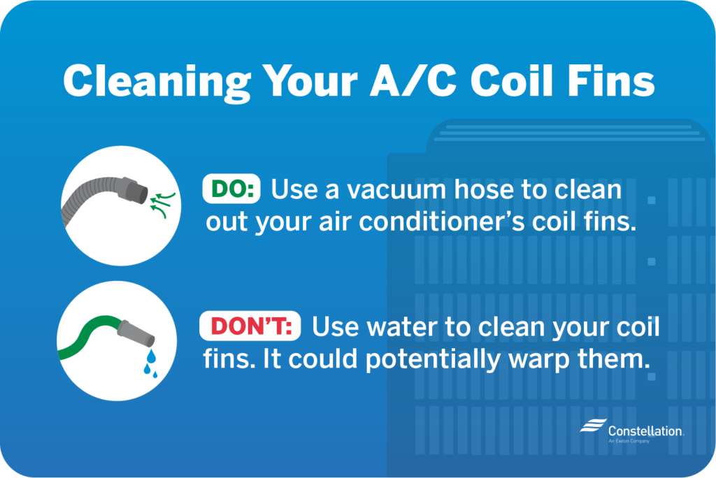 Tip on Cleaning Your AC Coil Fins