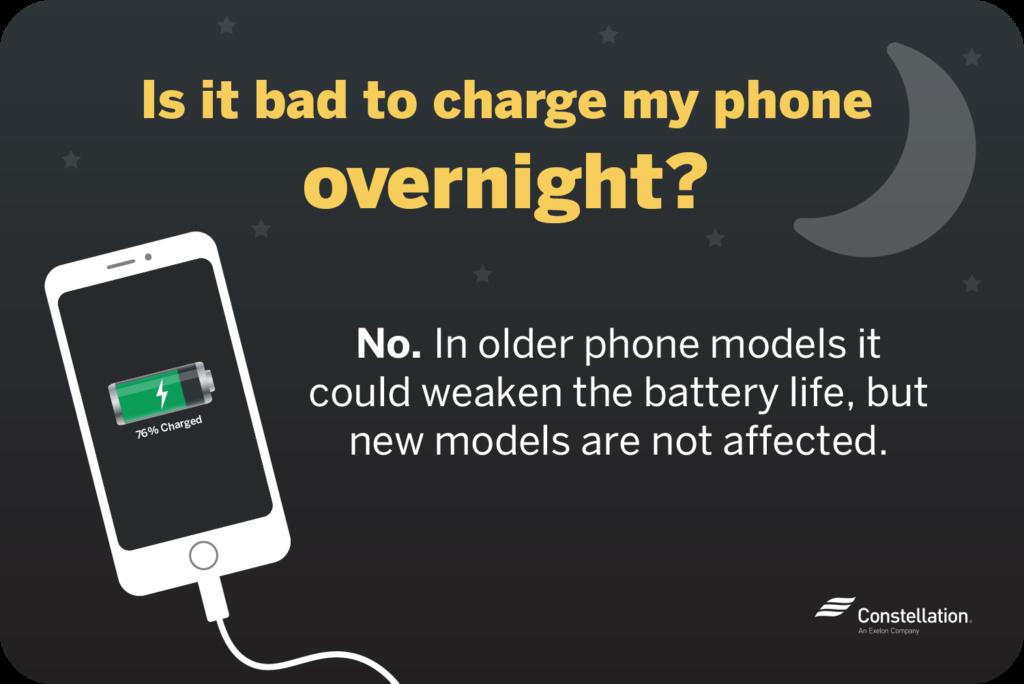 charging phone overnight