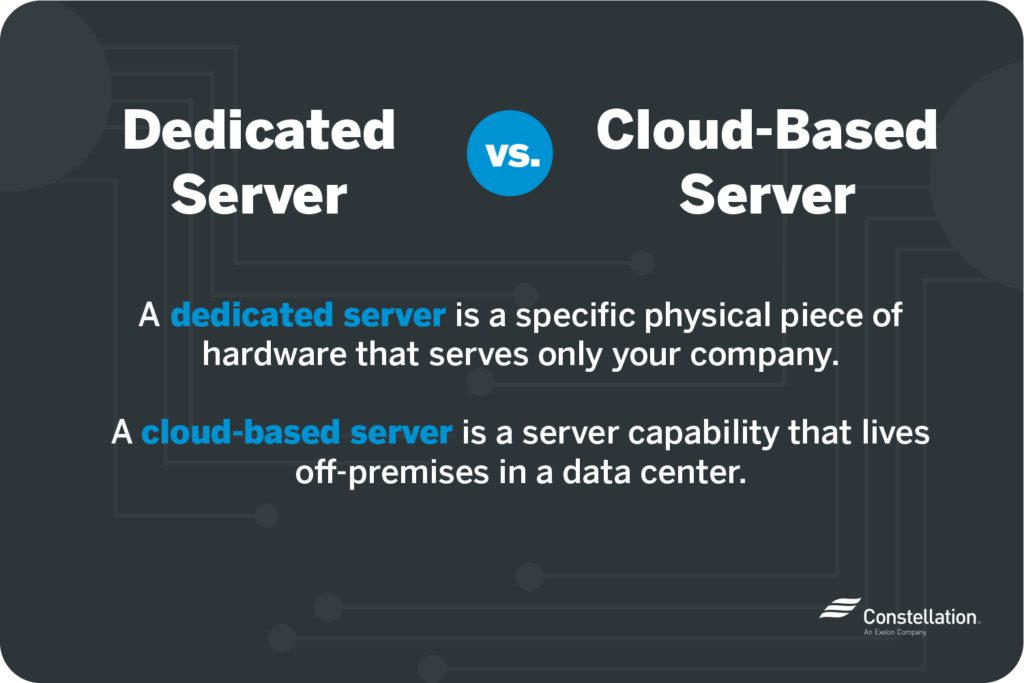 what is the difference between a dedicated server and cloud server