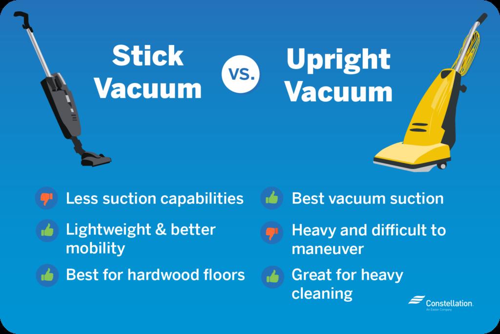 stick vacuum vs upright vacuum