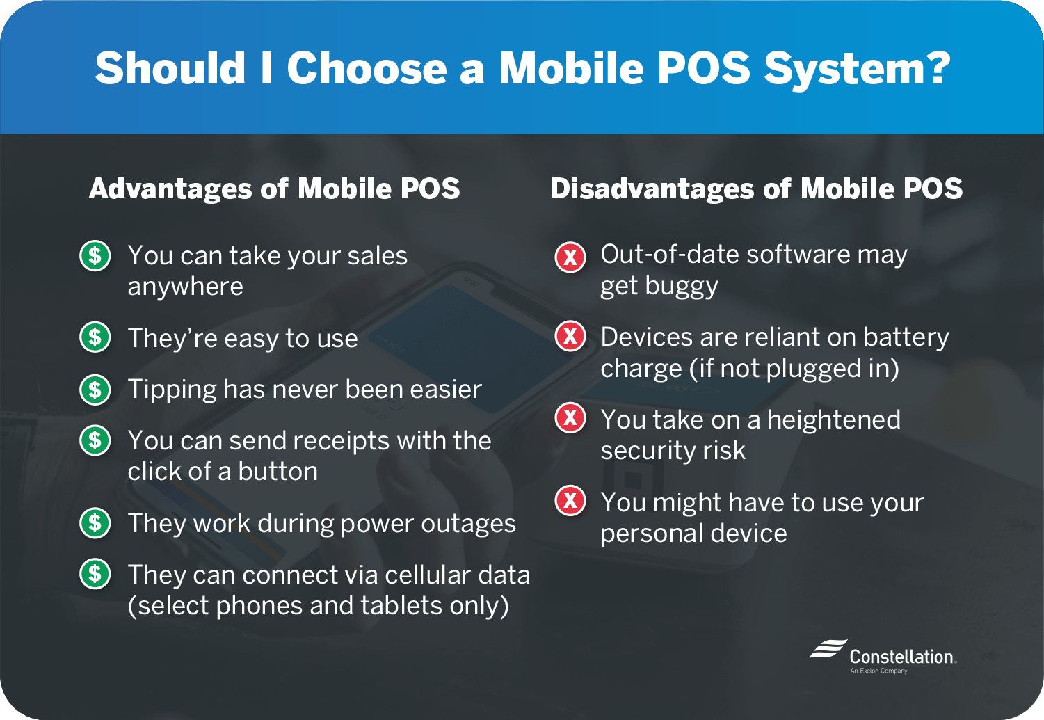 mobile pos system advantages and disadvantages