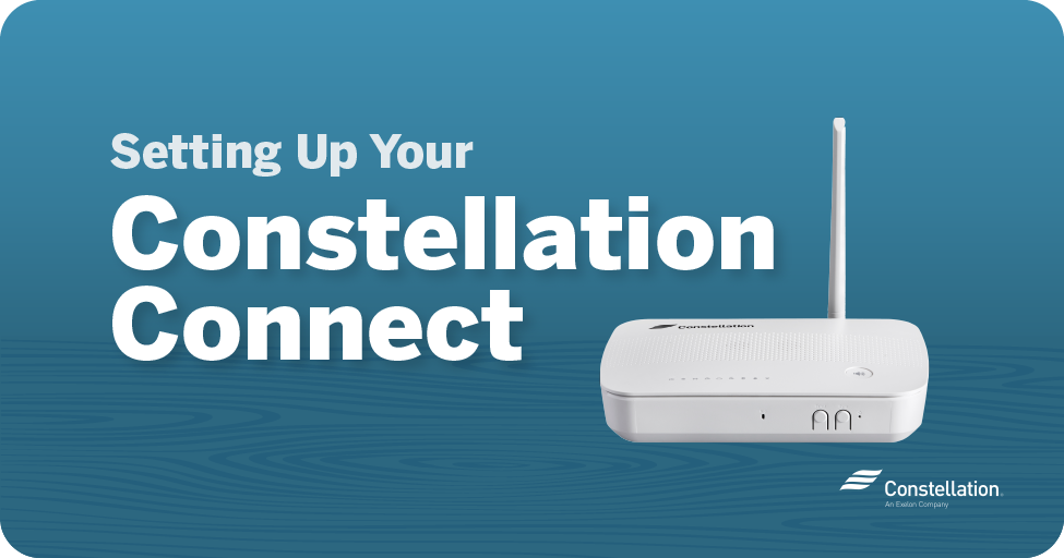 setting up your constellation connect home hub