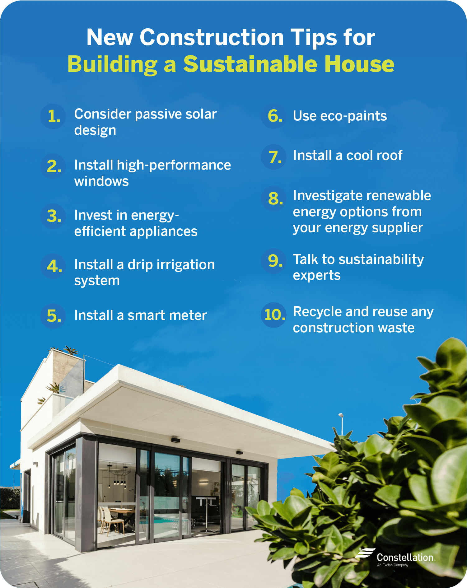 new construction tips for building a sustainable house
