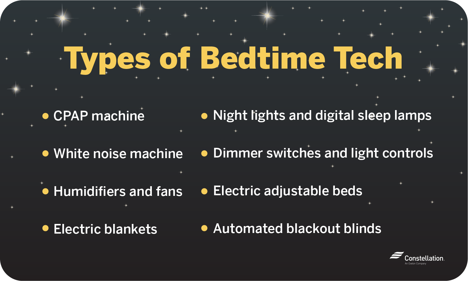 types of bedtime technology