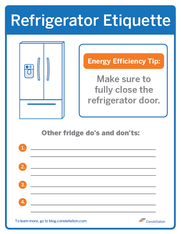refrigerator sign for the workplace