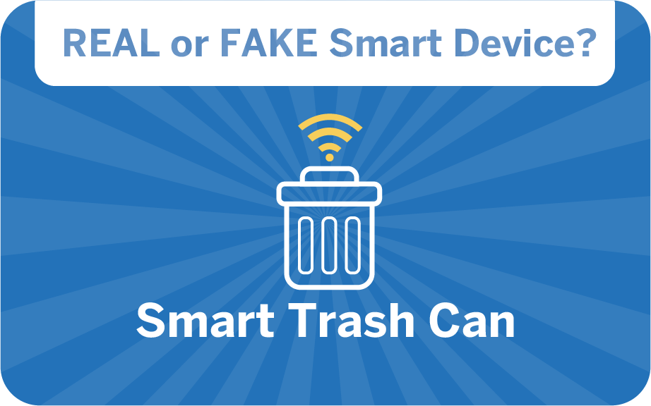 weird gadget quiz - smart trash can