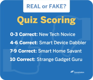Weird smart gadgets quiz scoring