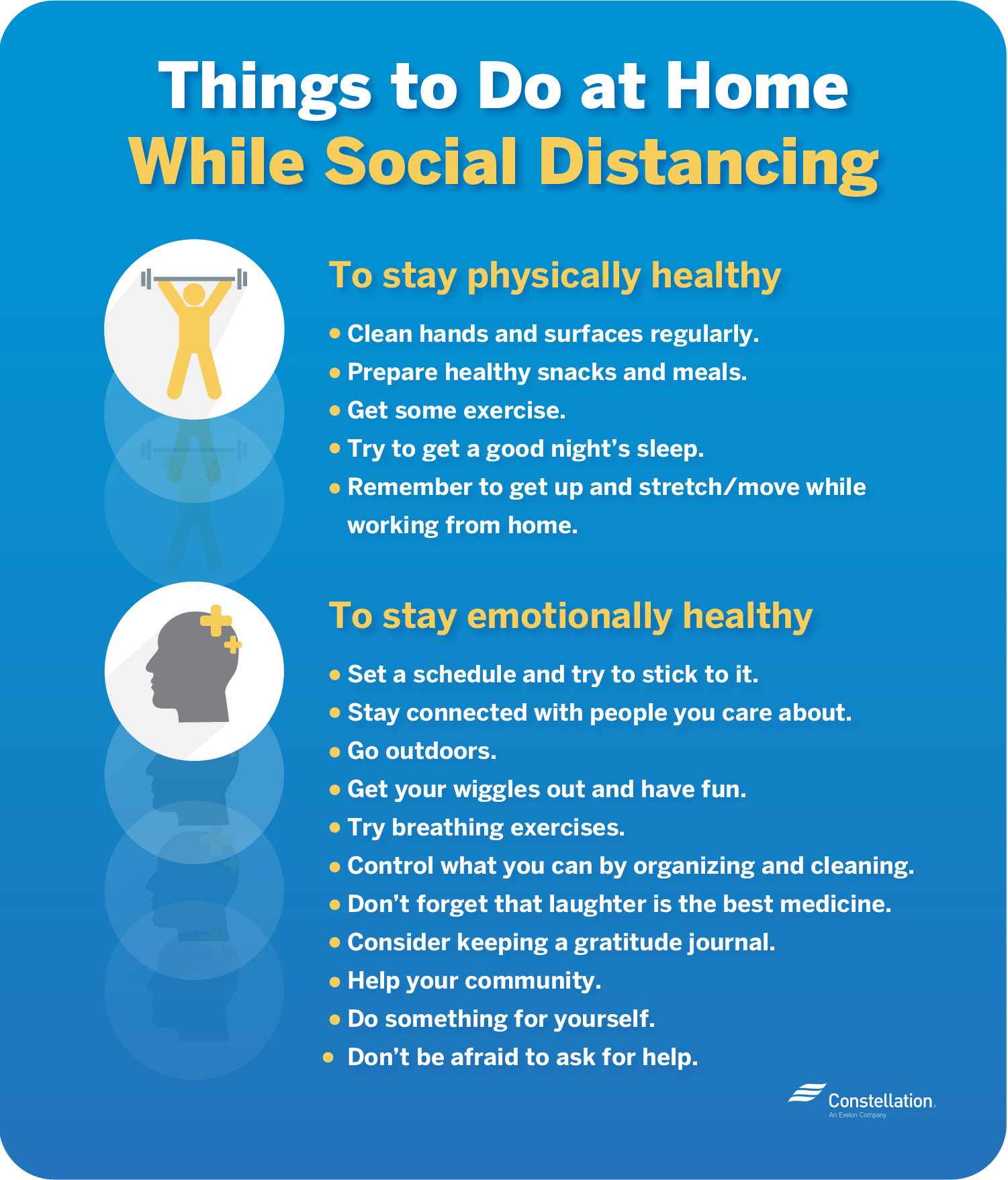 Things to do at home while social distancing