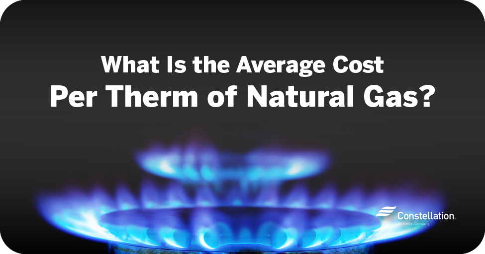 natural gas cost per therm