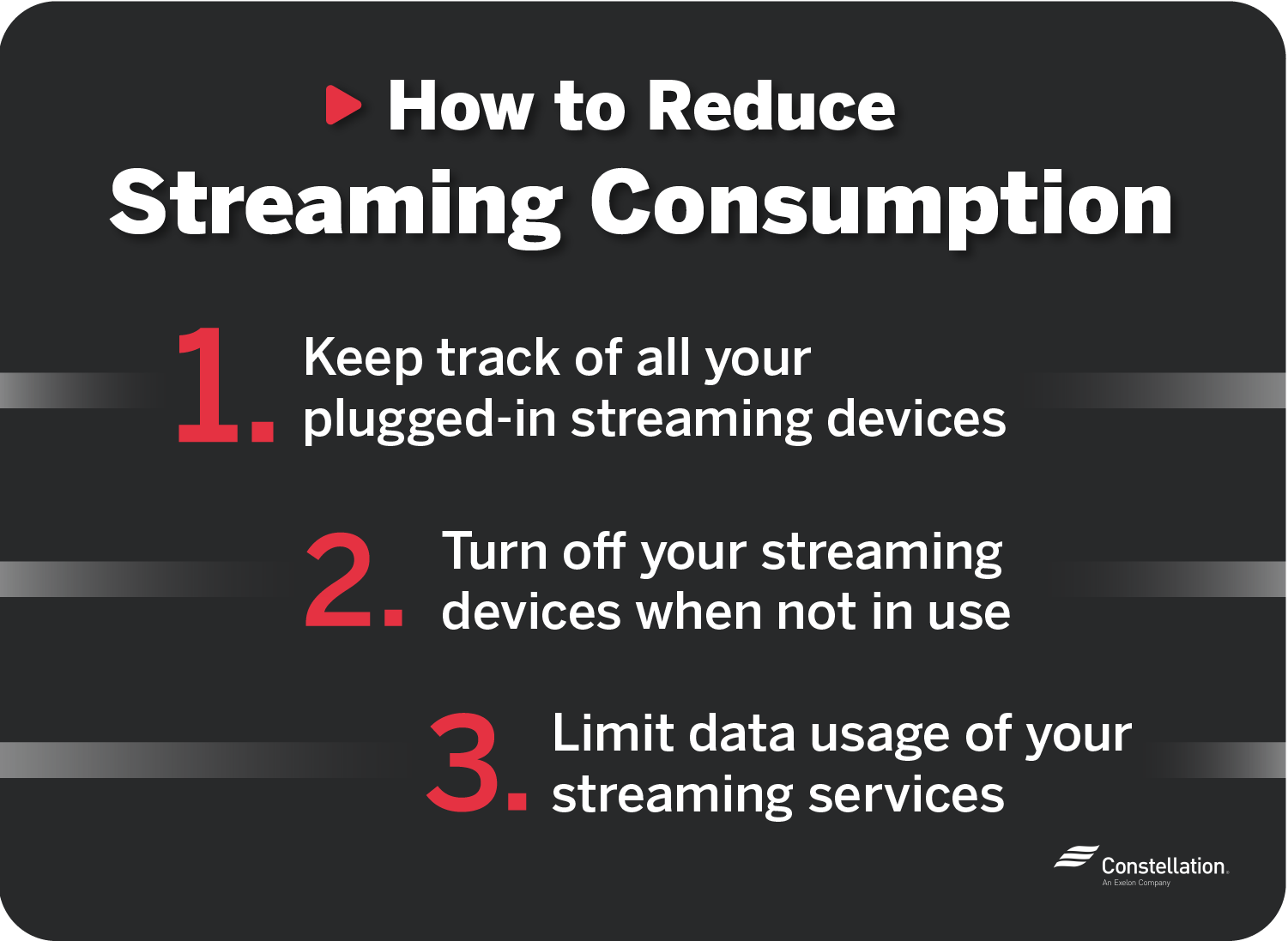 How to reduce streaming consumption