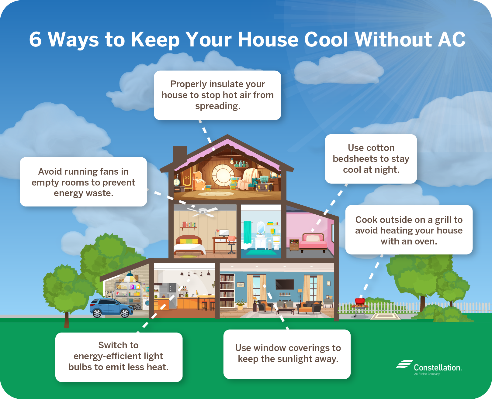 6 ways to keep your house cool without AC