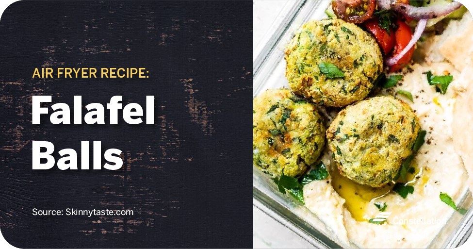 Falafel Balls air fryer recipe for meal prepping