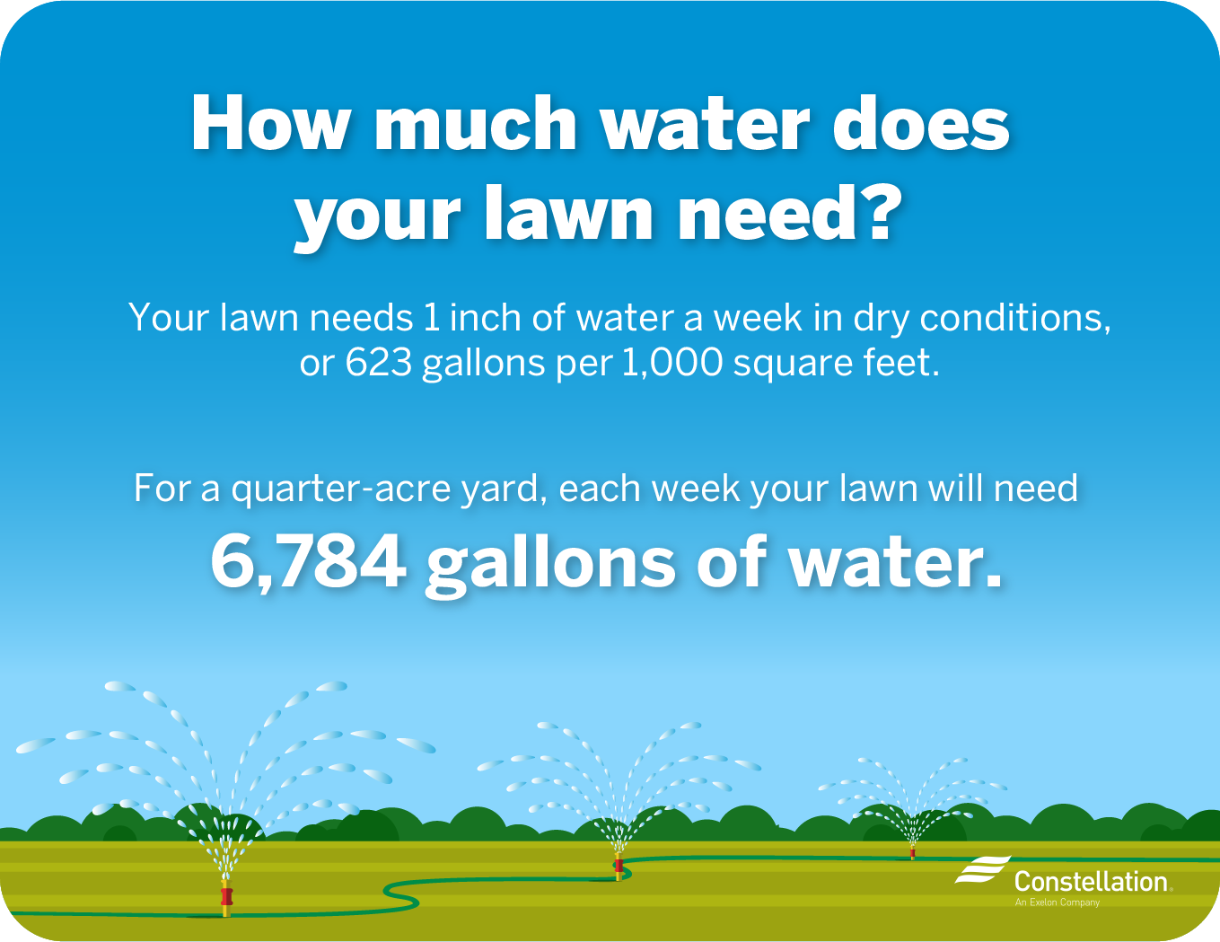 How much water is used to water a lawn?