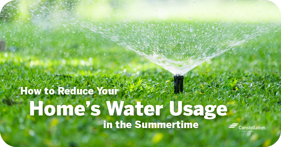 How to reduce your home's water usage in the summertime