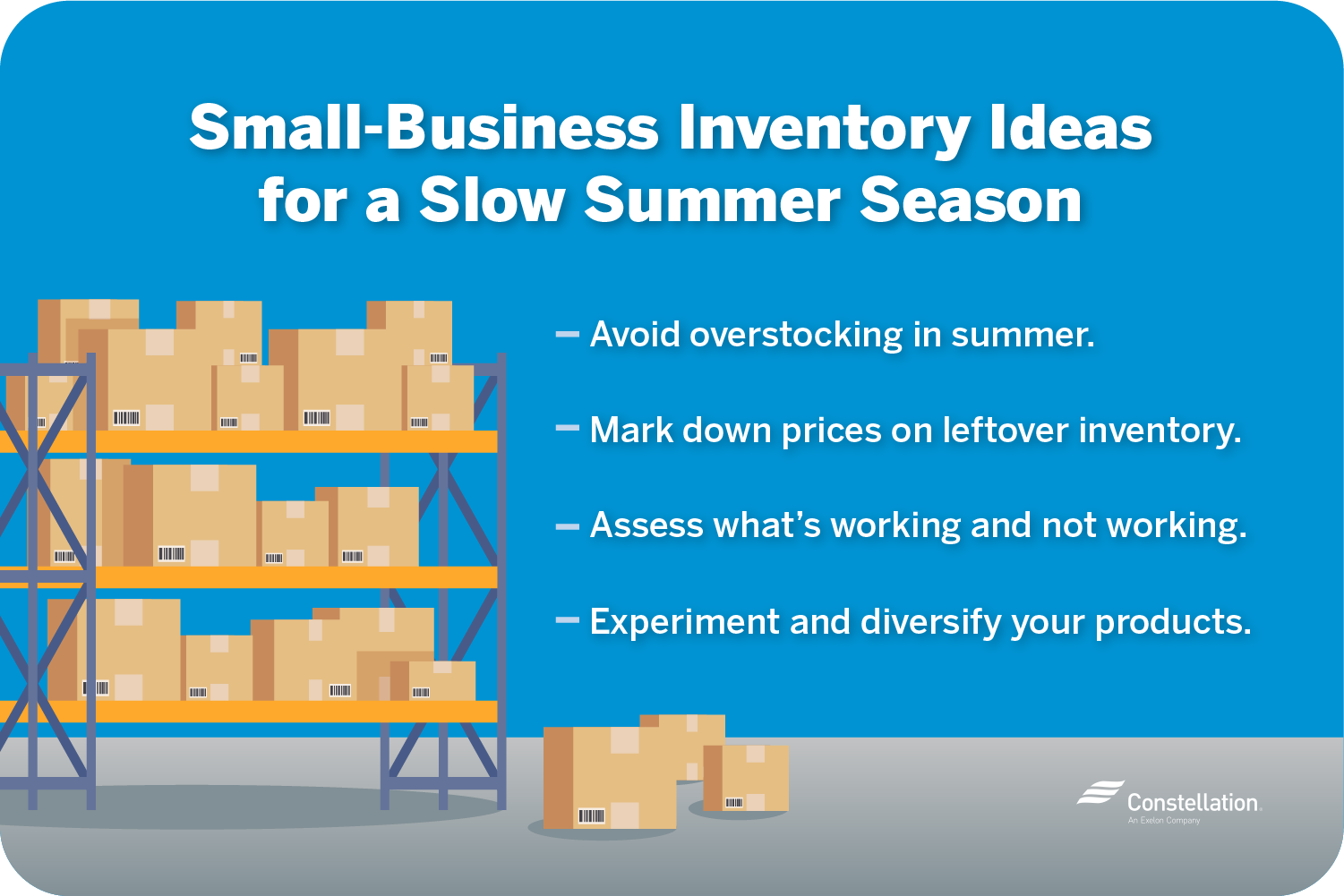 How your small business can handle inventory if summer is your slow season
