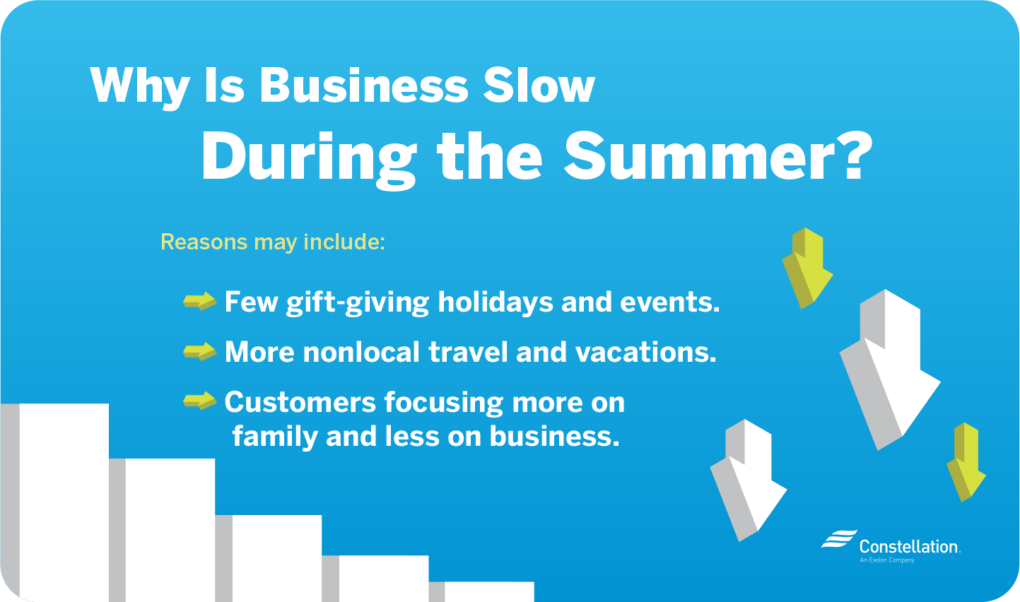 Why is business slow during the summer?