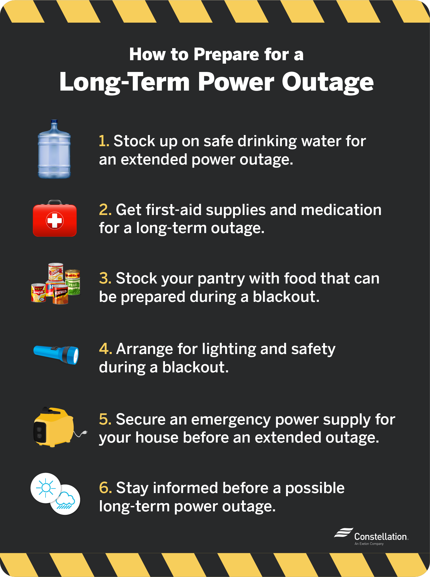how to prepare for a long-term power outage