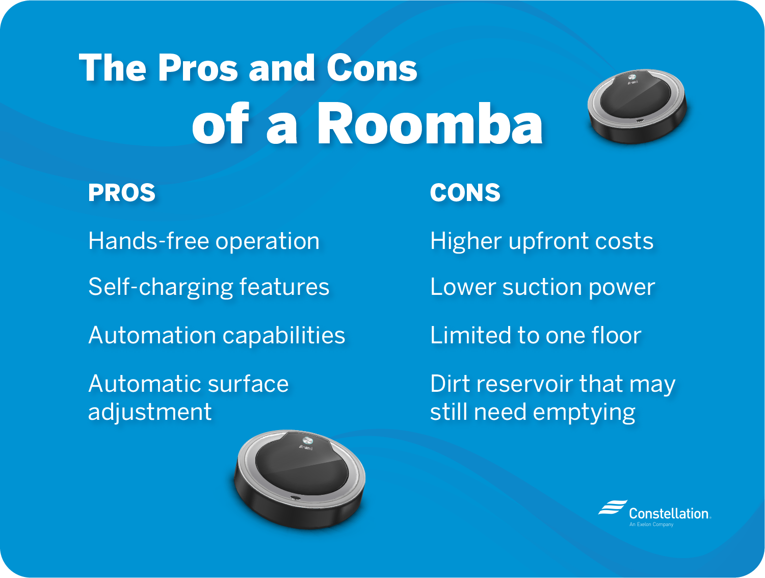 roomba pros and cons