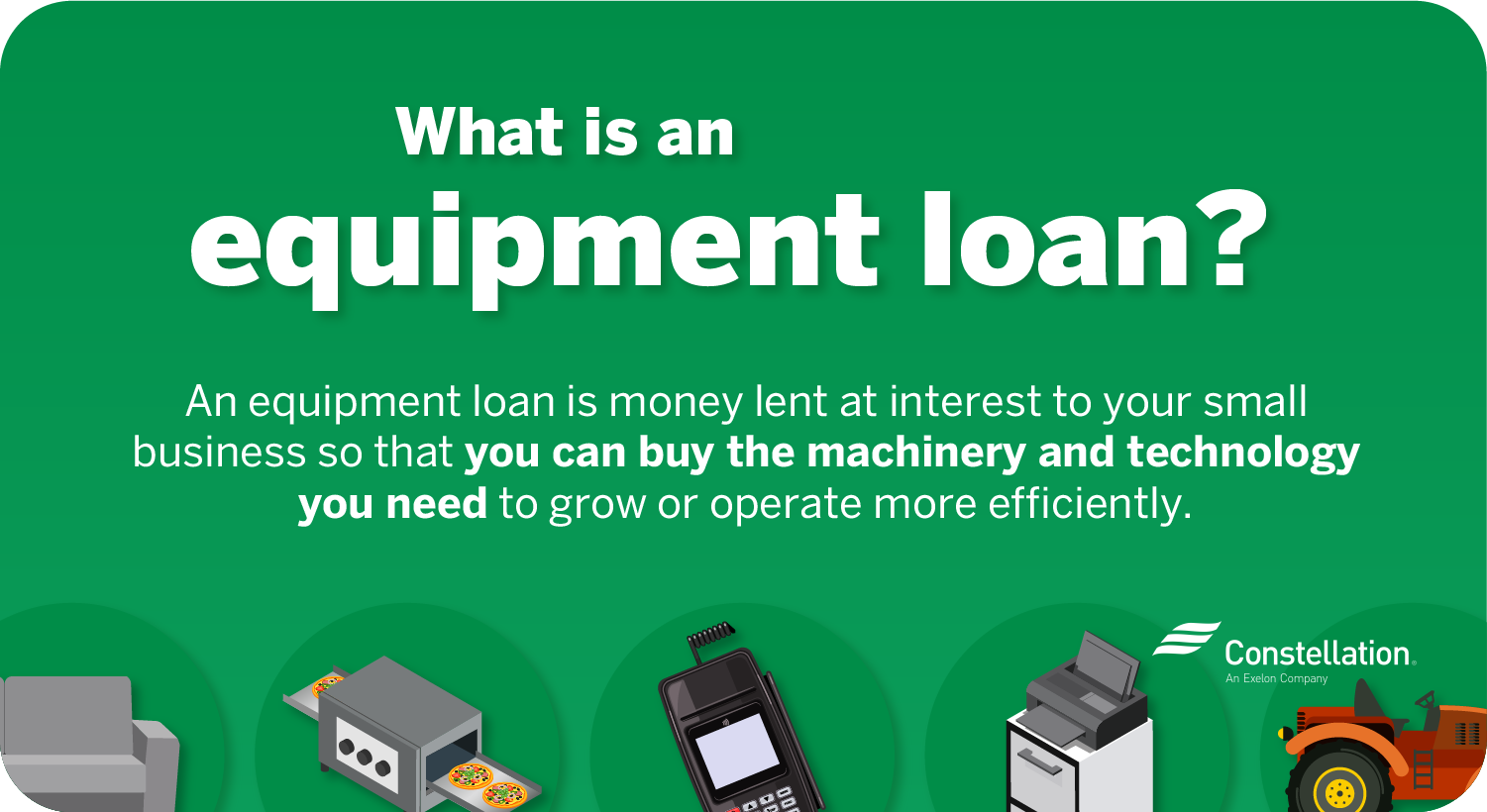What is a small-business equipment loan?