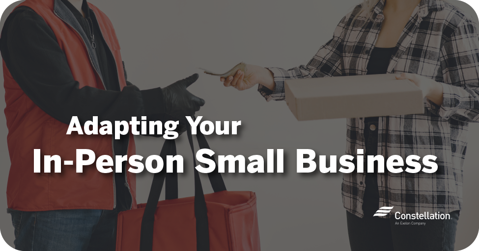 Adapting your in-person small business