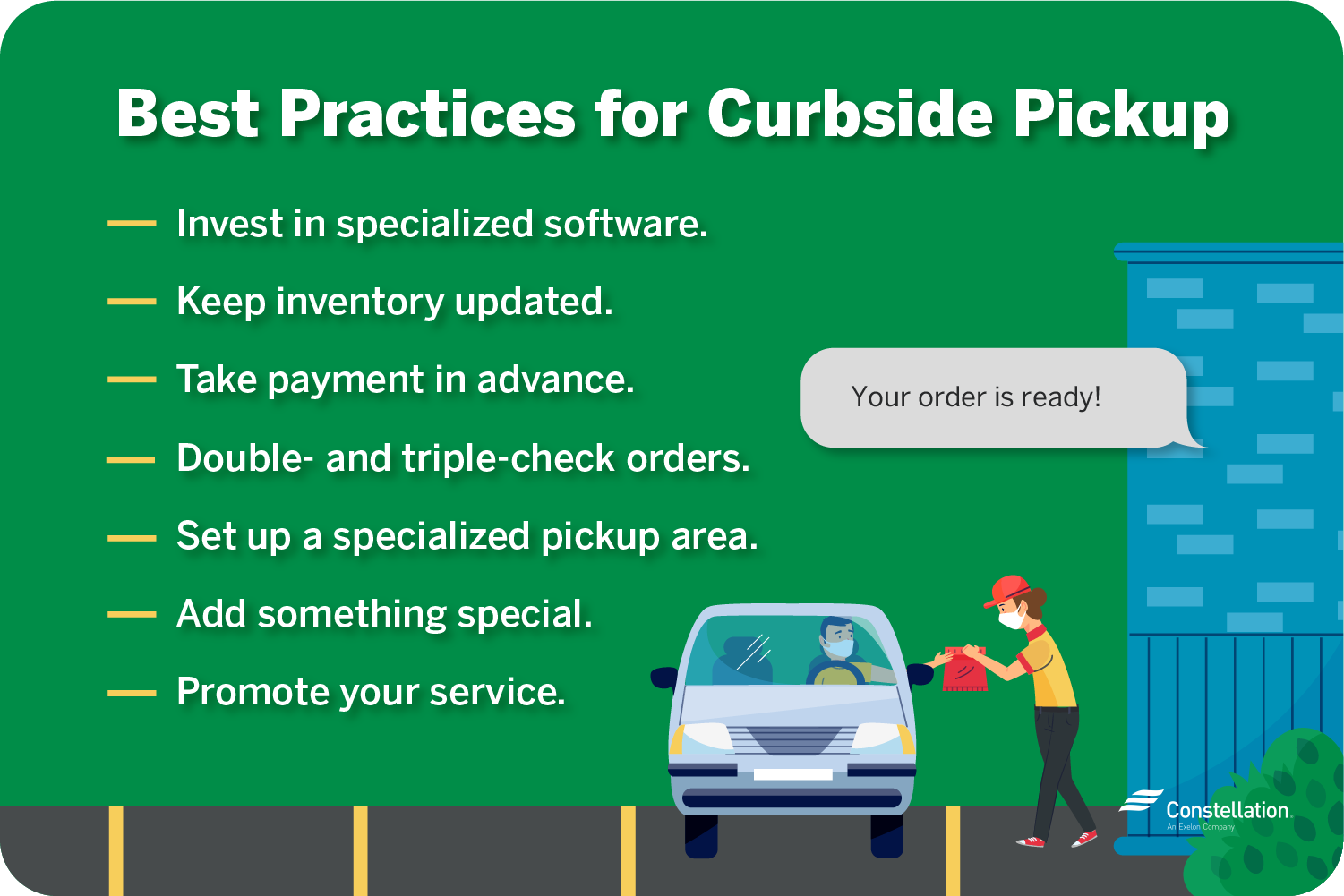 Best practices for curbside pickup