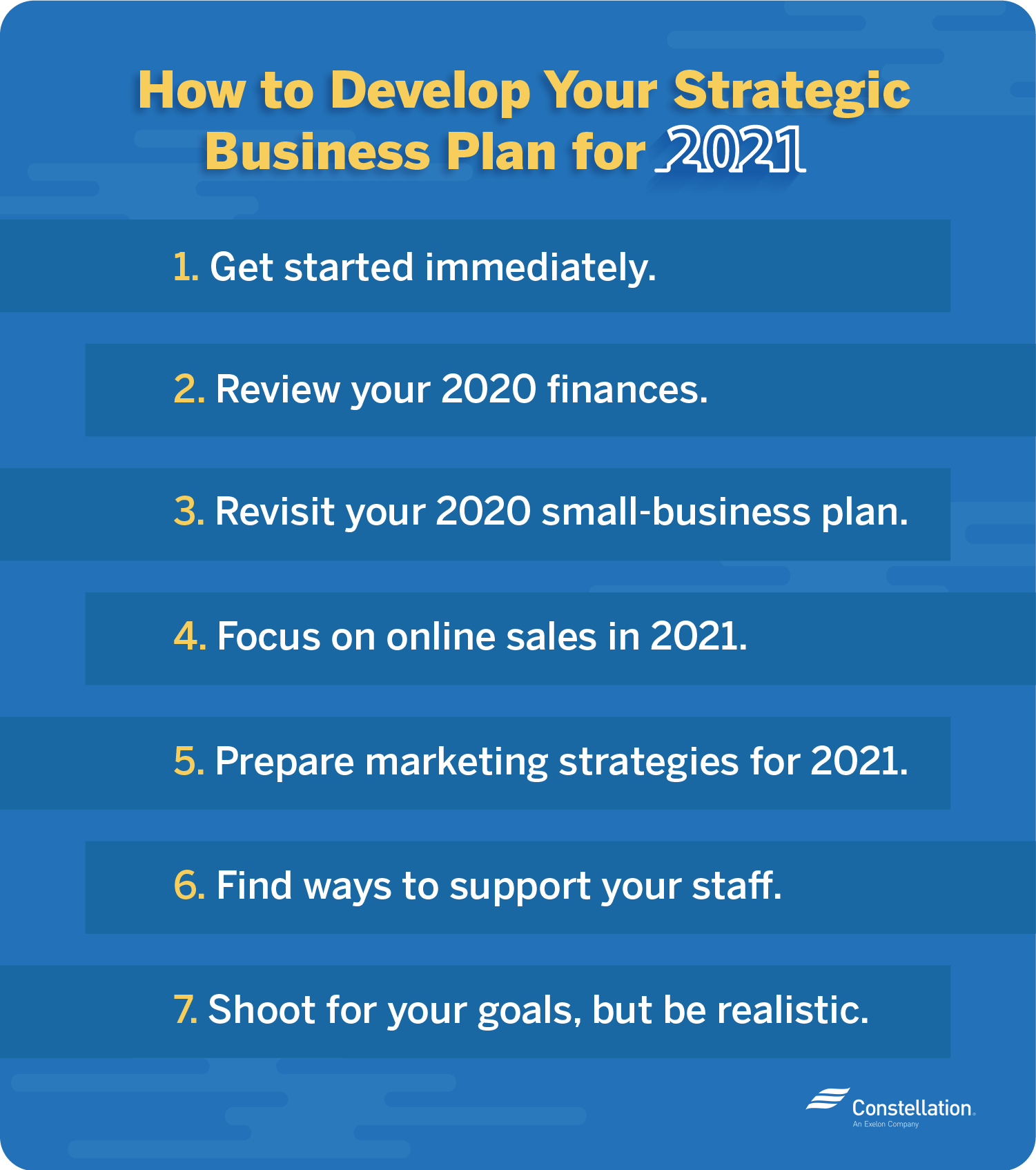 Developing a strategic business plan for 2021