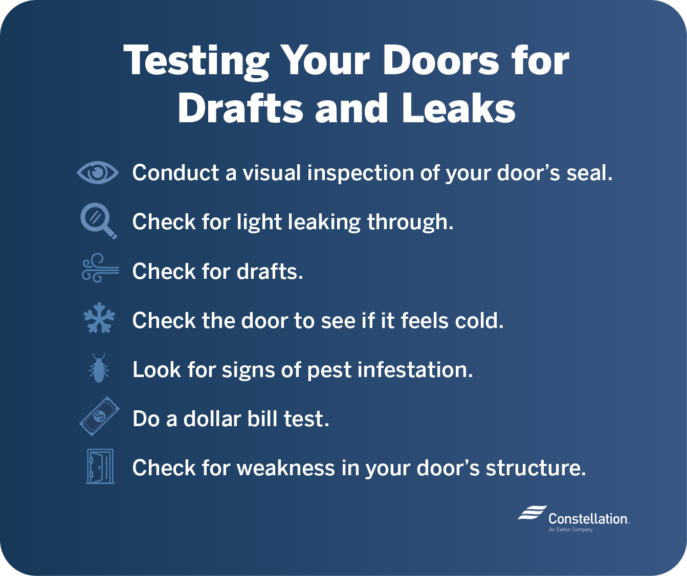 Testing your doors for drafts and leaks