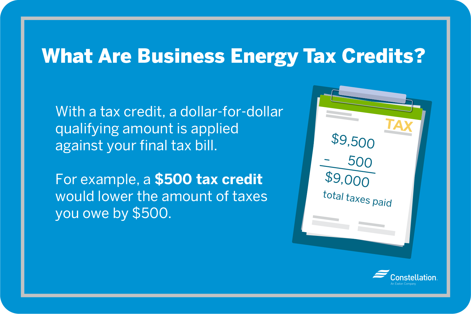 Finding Small Business Energy Tax Credits Constellation