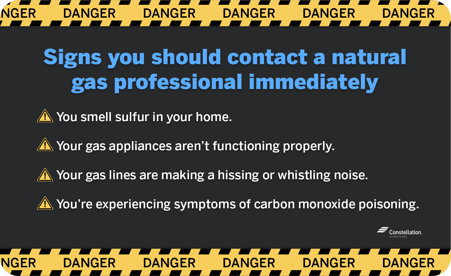Signs you should contact a natural gas professional for immediate assistance