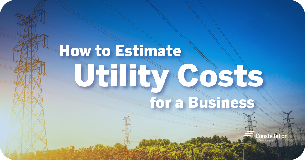 How to estimate utility costs for a business