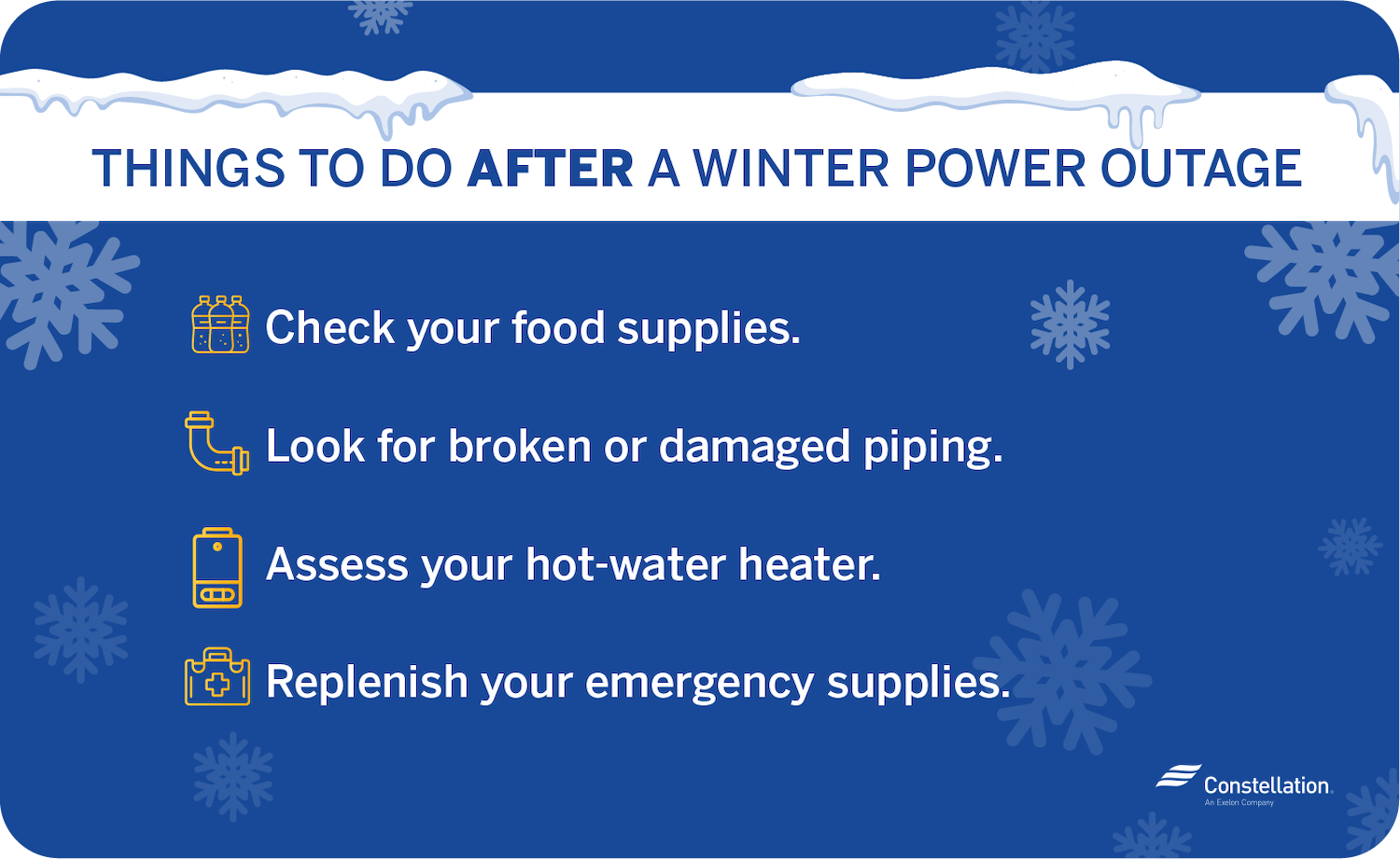 what to do after a winter power outage
