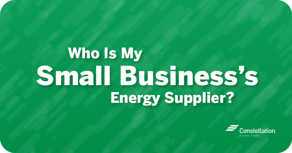 Who is my small business's energy supplier?